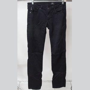 Ag Adriano Goldschmied Slim StraightBlack Jeans 26